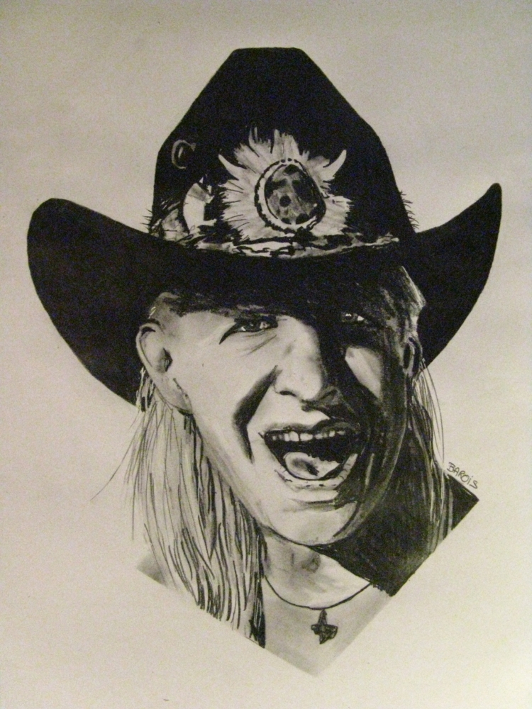 Johnny Winter by stef